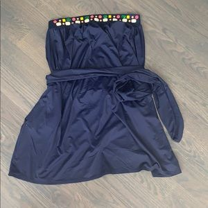 Juicy couture navy strapless beach dress